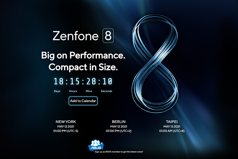 【快訊】華碩 ZenFone 8 下月將登場 詳細規格、新機特色曝光