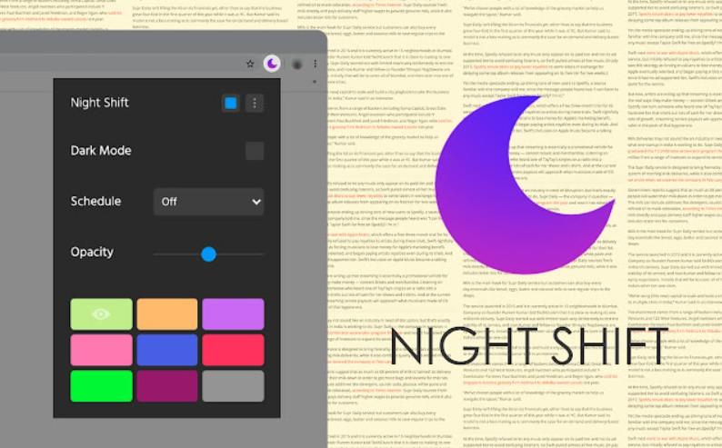 【科技新知】電腦螢幕如何過濾藍光?「Night Shift Redux過濾藍光器」幫你自動調整網頁光線