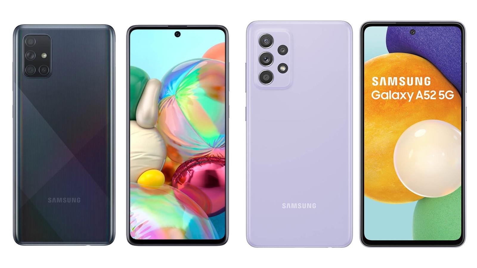 【手機專知】三星A71跟A52 5G的不同差異為何?消費者該怎麼選擇?