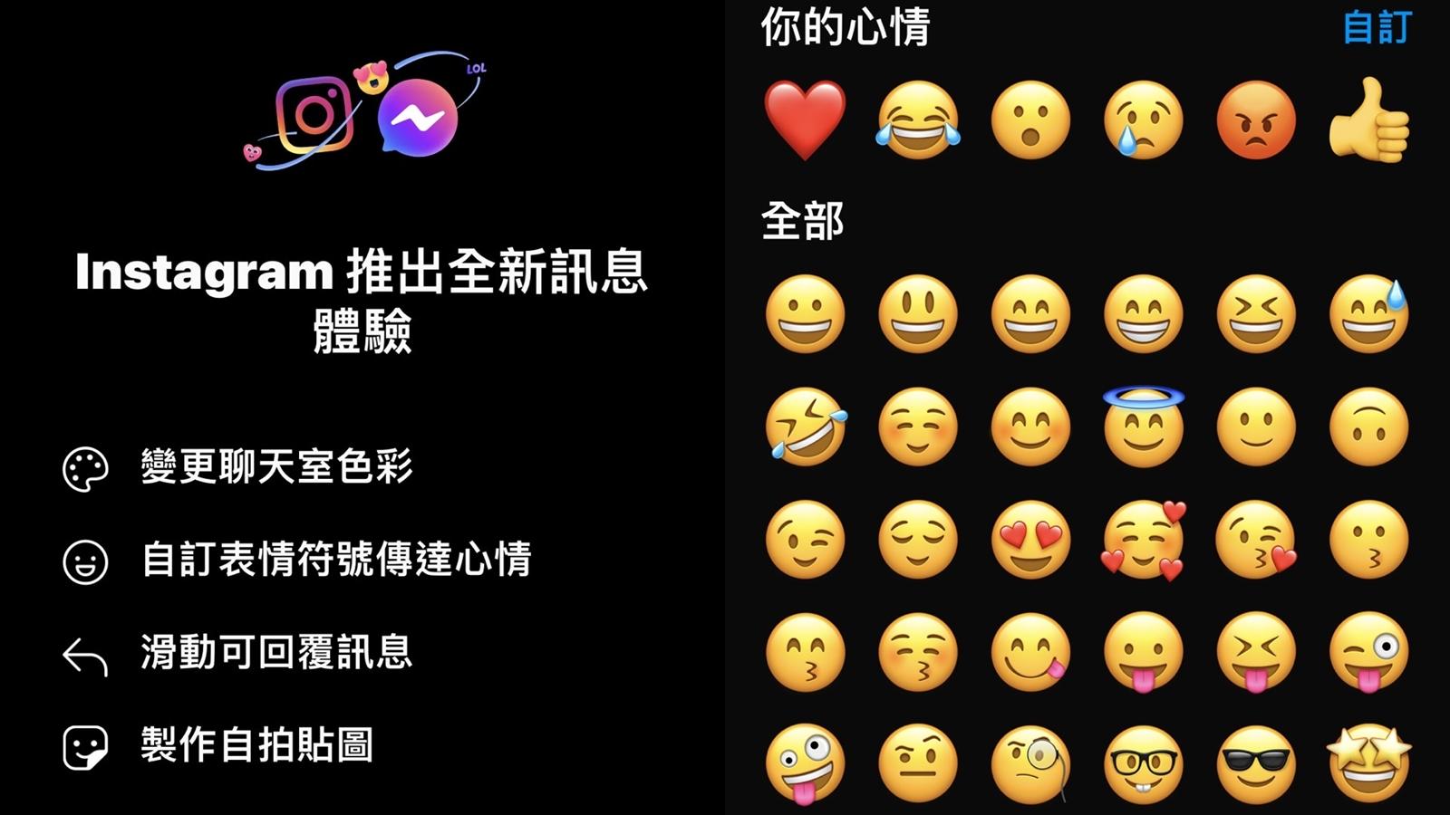 【科技新知】Instagram(IG) 聊天室訊息如何更新?可傳送自訂Emoji表情!