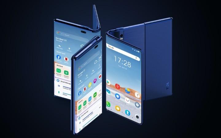 【快訊】捲軸X摺疊螢幕?TCL 發表伸縮自在概念手機Fold 'n' Roll